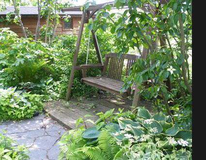 自宅の庭写真